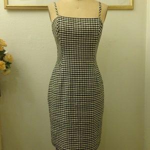 A.B.S by Allen Schwartz Checkered Midi Dress